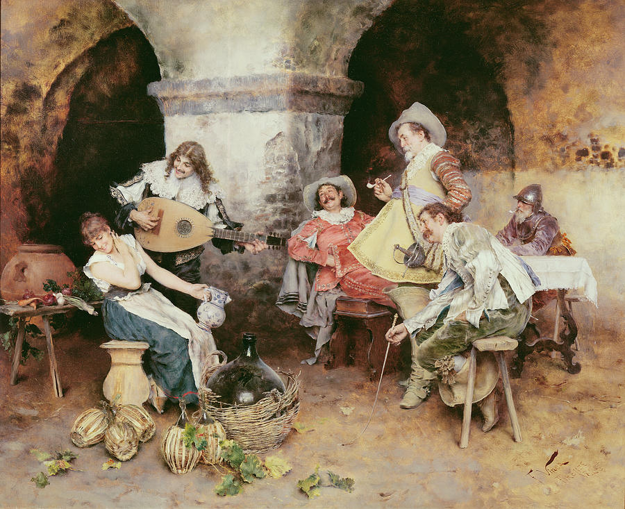 Musical Painting - The Serenade by Francesco Vinea