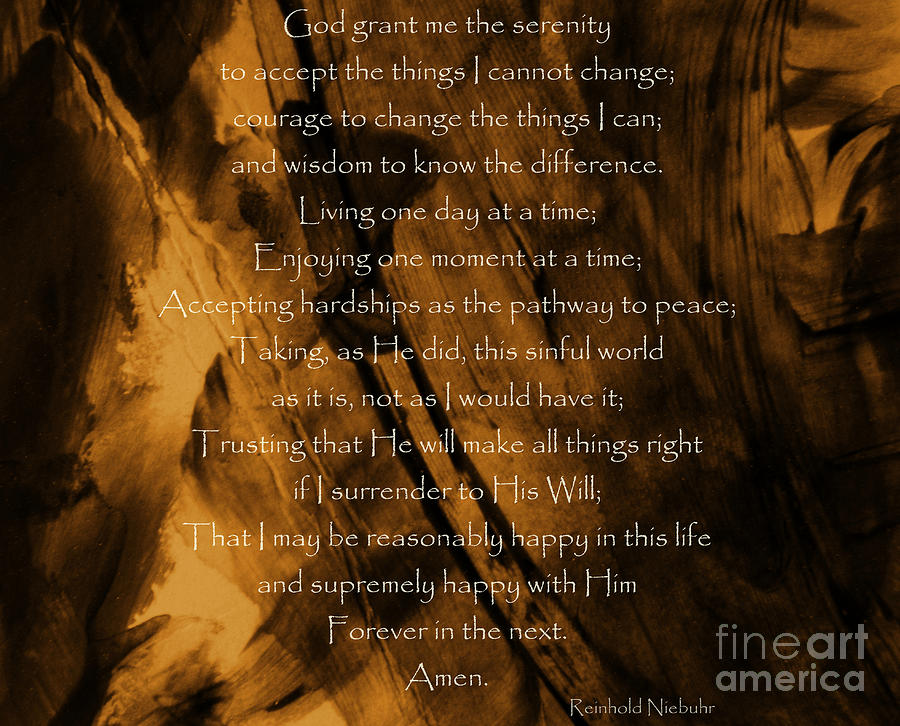 The Serenity Prayer Photograph by Andrea Anderegg