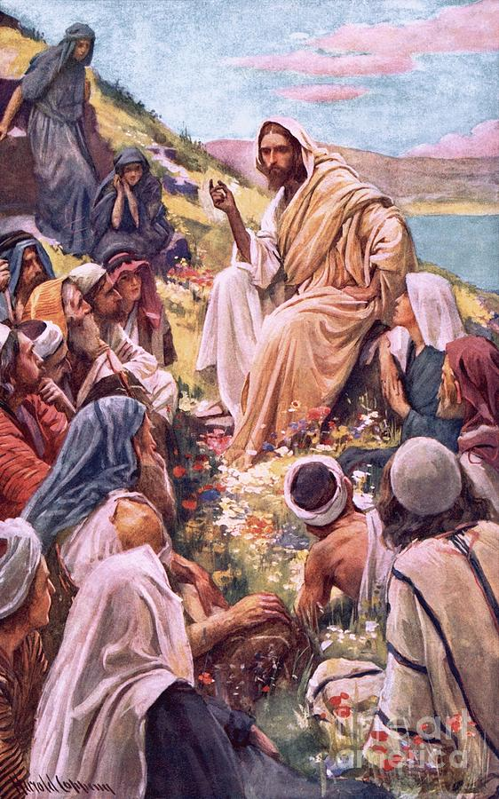 Son Of God Painting - The Sermon On The Mount by Harold Copping