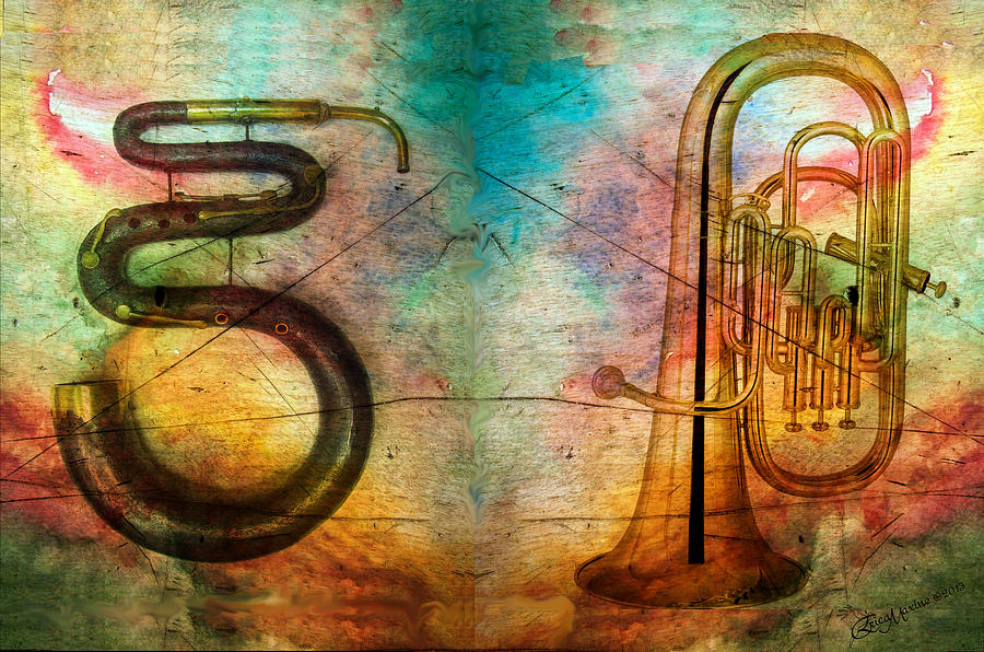 Serpent Photograph - The Serpent And Euphonium -  Featured In Spectacular Artworks by EricaMaxine  Price