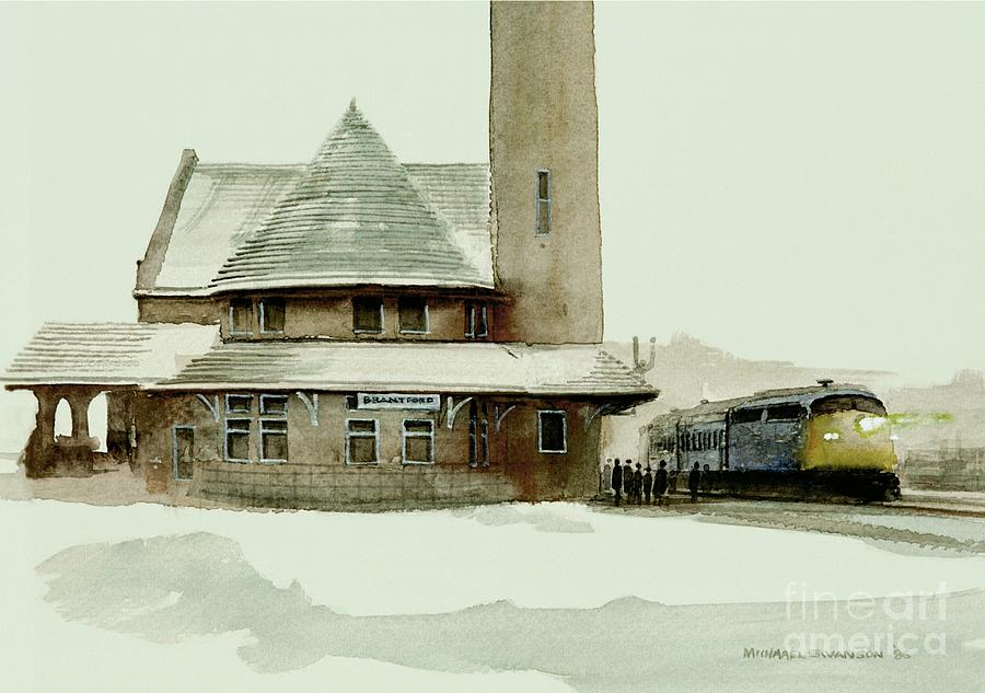 Winter Landscape Painting - The Seven Fifteen by Michael Swanson