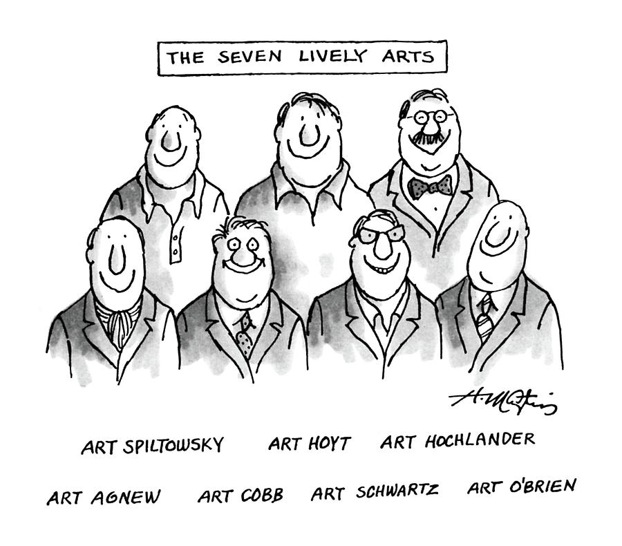 The Seven Lively Arts Drawing by Henry Martin