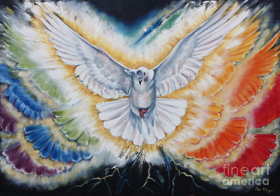 Holy Spirit Painting - The Seven Spirits Series - The Spirit Of The Lord by Ilse Kleyn