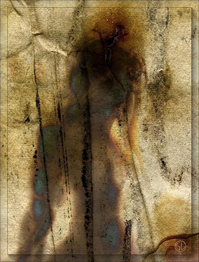 Woman Digital Art - The Shadow Of Her by Gun Legler