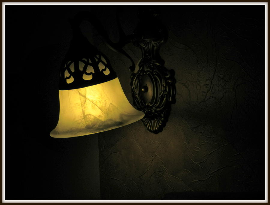 Lamp Photograph - The Shadow by Utkarsh Maheshwari