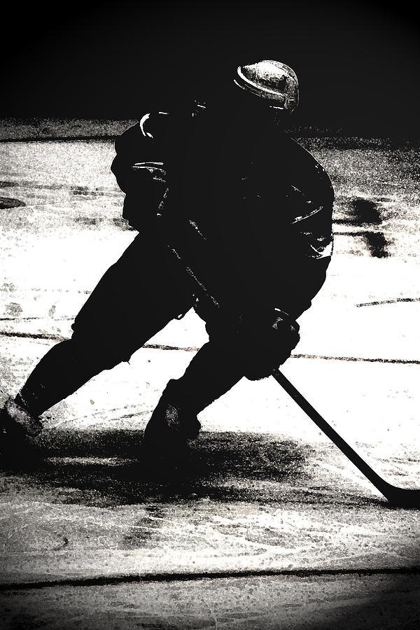 Hockey Photograph - The Shadows Of Hockey by Karol Livote