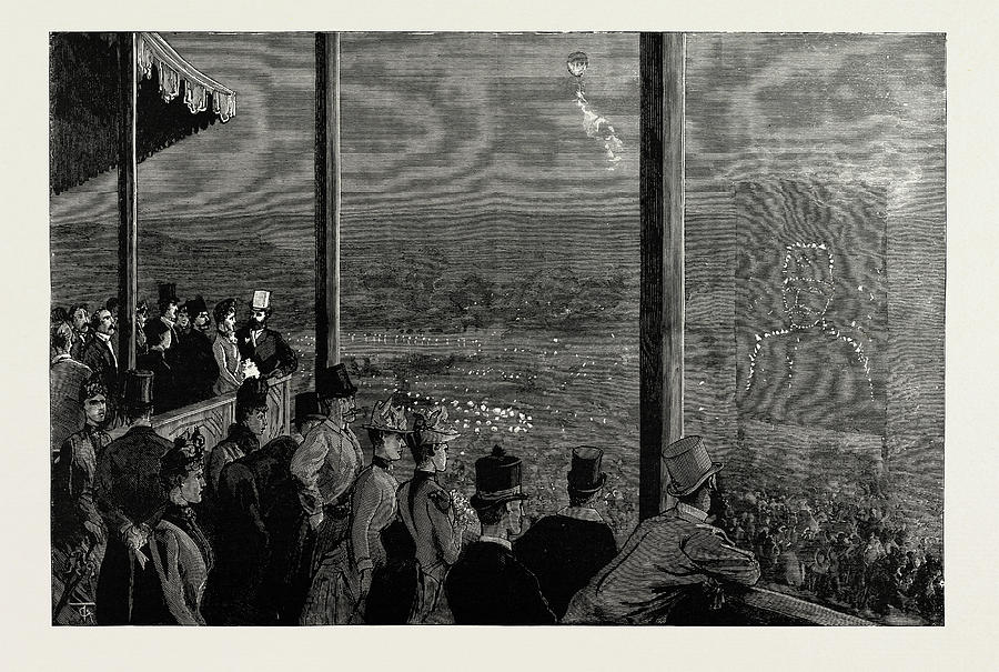 Crystal Palace Drawing - The Shahs Visit To The Crystal Palace The Fireworks by Litz Collection