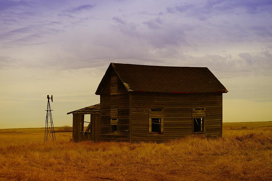 Farm Houses Photograph - The Shambles Of Dreams Gone By by Jeff Swan