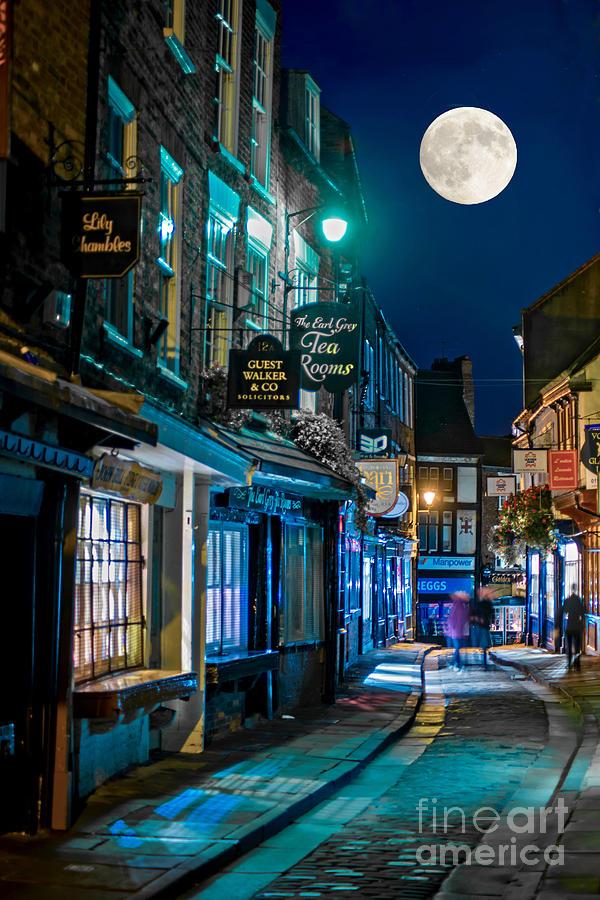 City Photograph - The Shambles Street In York U.k Hdr by Lilianna Sokolowska