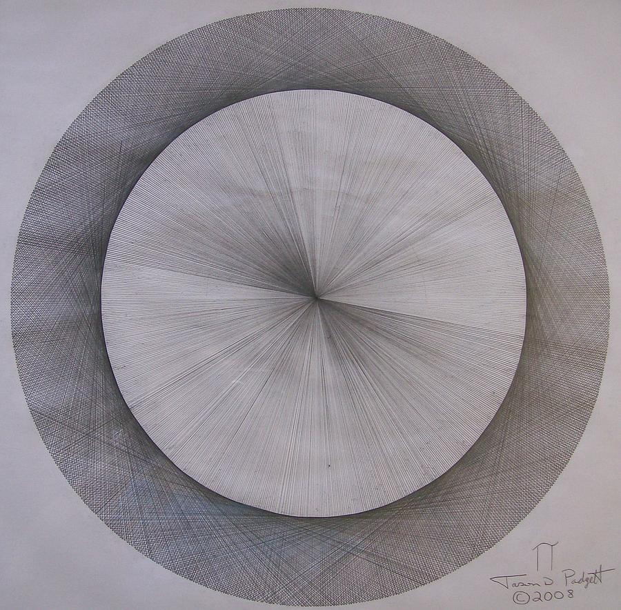 Pi Drawing - The Shape Of Pi by Jason Padgett