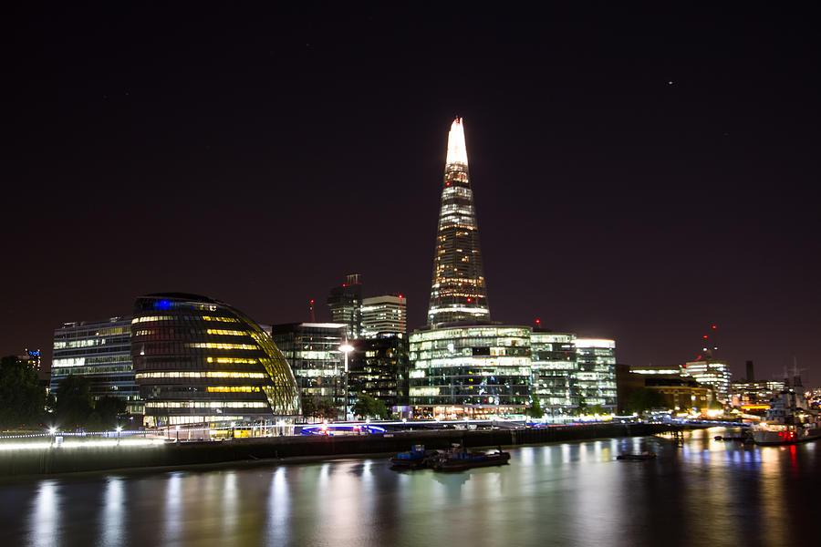London Photograph - The Shard And City Hall  by Wayne Molyneux