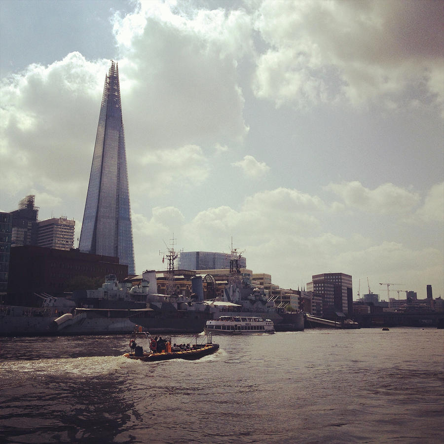 The Shard And Thames Photograph by Denise Taylor