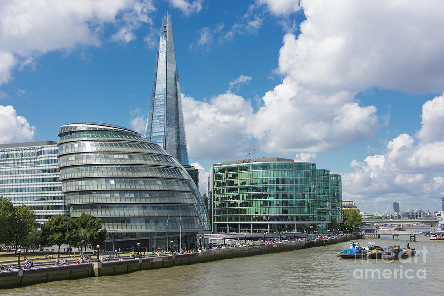 Southbank Photograph - The Shard London by Donald Davis