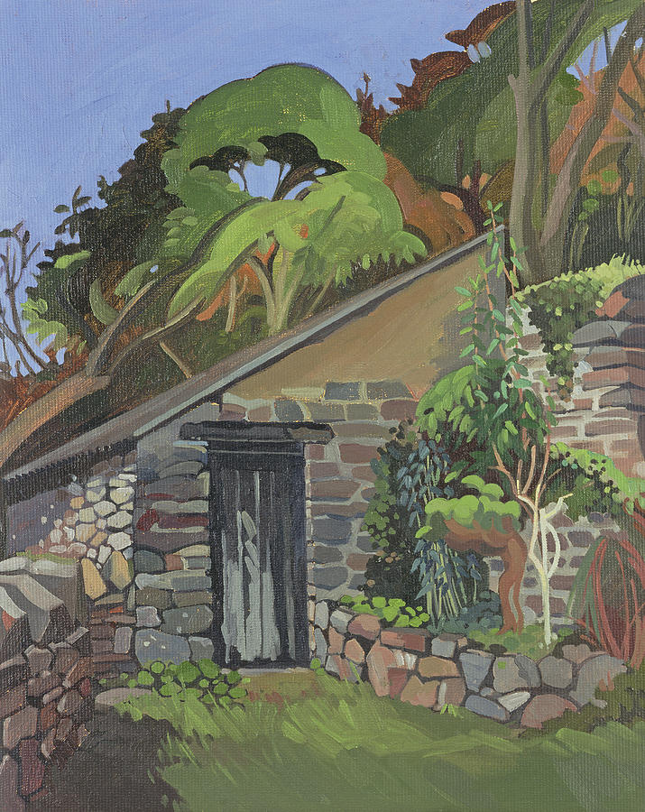 North Devon Photograph - The Shed, Clovelly Oil On Board by Anna Teasdale