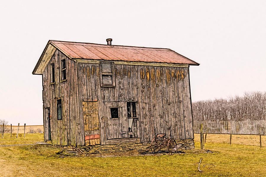 Rural Digital Art - The Shed by David Simons