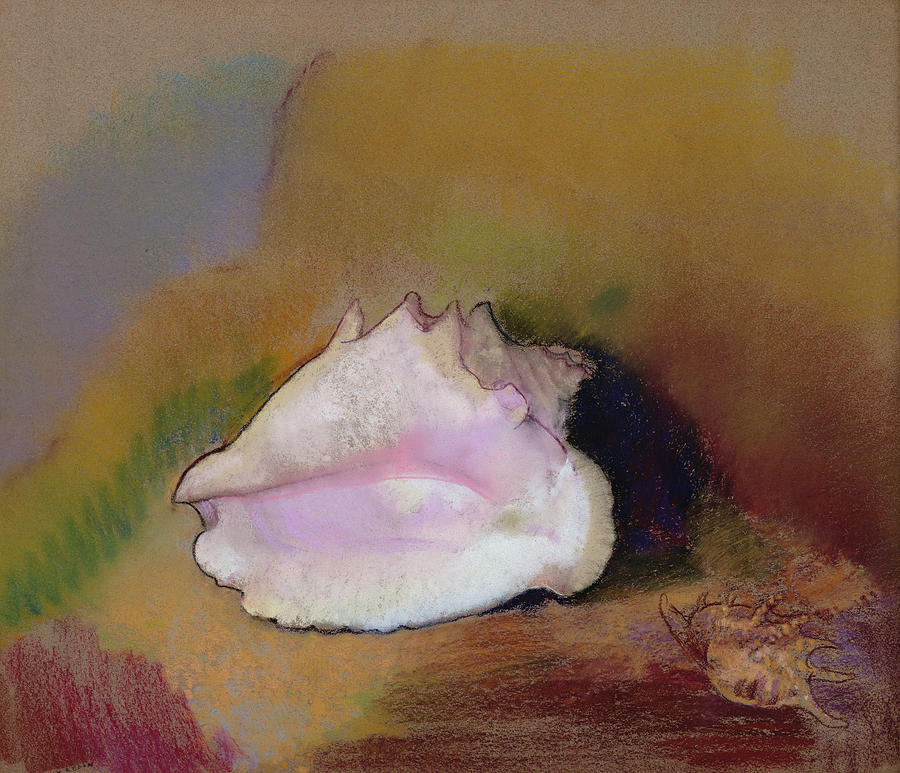 Shell Pastel - The Shell by Odilon Redon