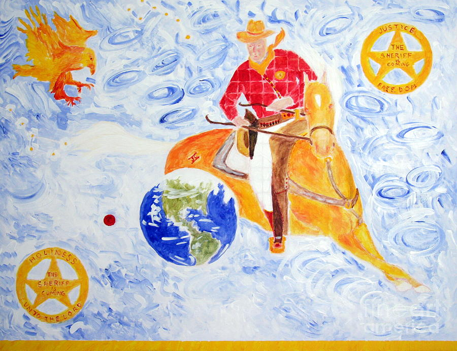 Jesus Christ Painting - The Sheriff is Coming Tomorrow My Friend by Richard W Linford