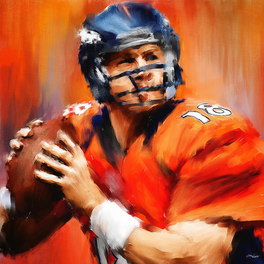 Peyton Manning Painting - The Sheriff by Lourry Legarde