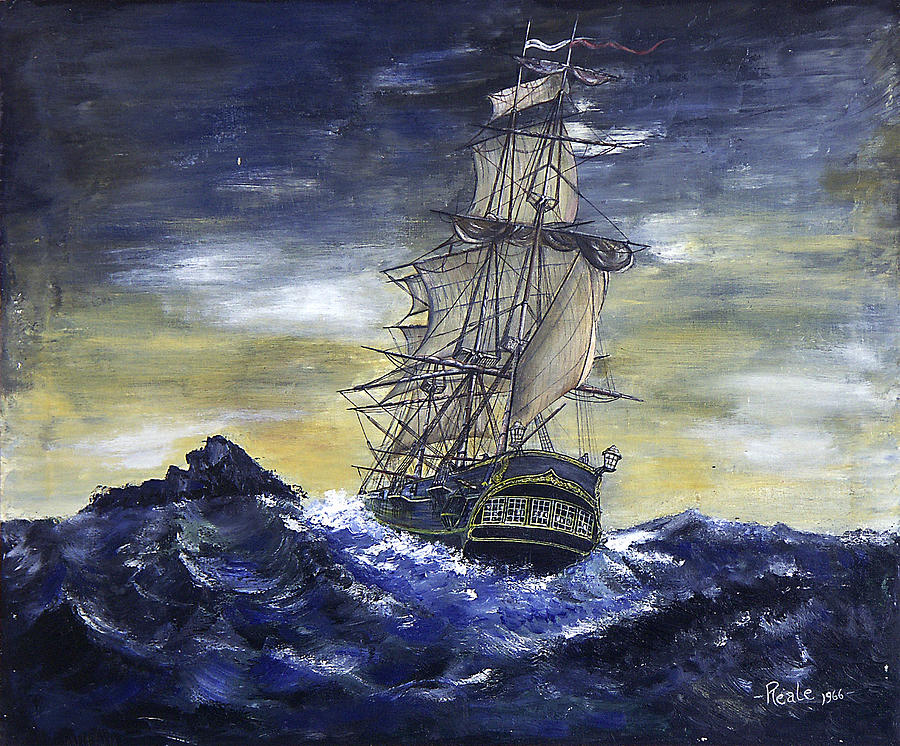 Seascape Painting - The Ship by Jim  Reale