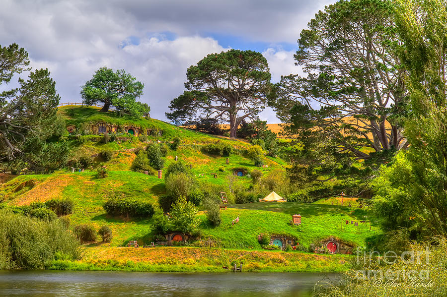 The Shire and Bags End by Sue Karski