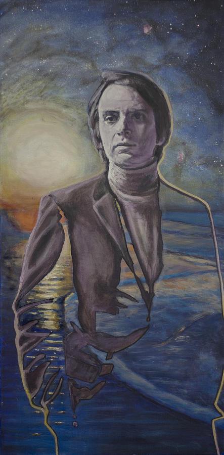 Carl Sagan Painting - The Shore Of The Cosmic Ocean by Simon Kregar