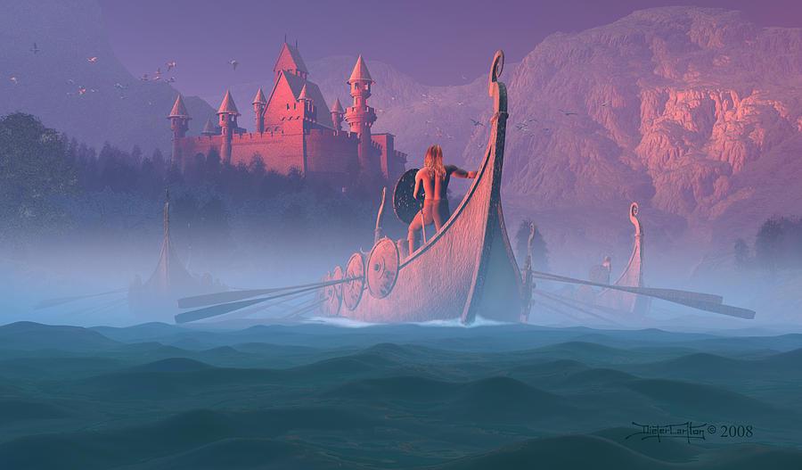 The Shores Of Valhalla Digital Art by Dieter Carlton