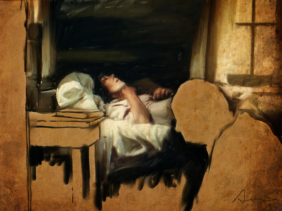 Sick Painting - The Sickbed by H James Hoff