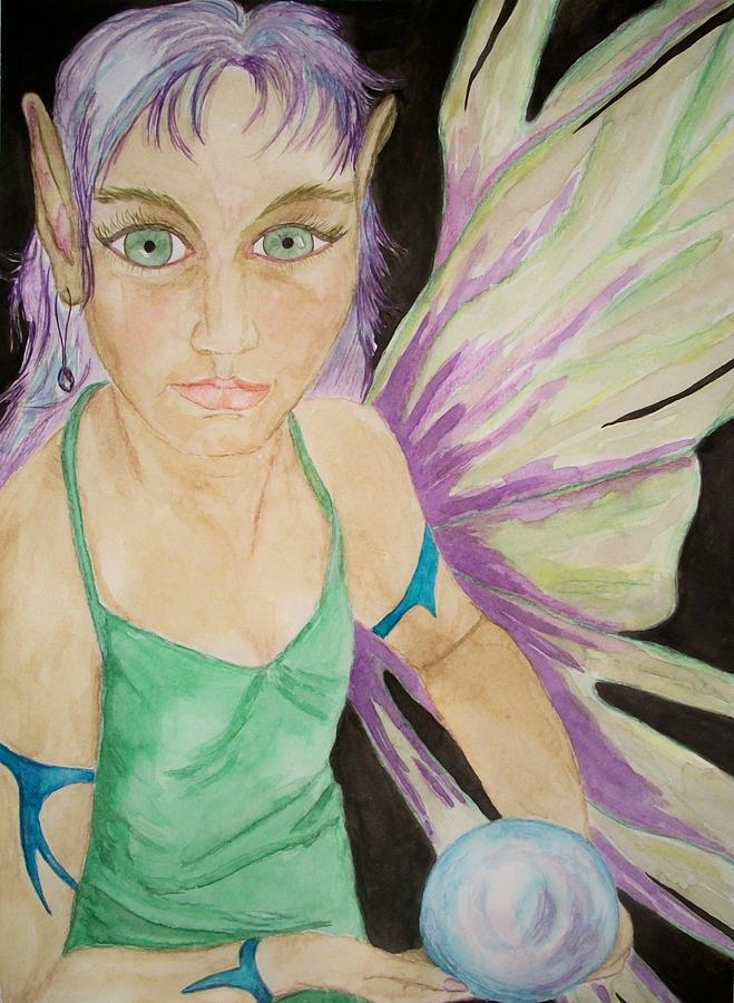 Fairy Painting - The Sight by Carrie Viscome Skinner