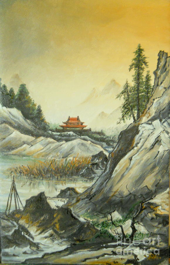The Silence In The Mountains Painting