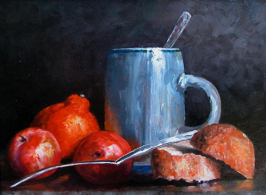 Still Life Painting - The Silver Cup by Jim Gola