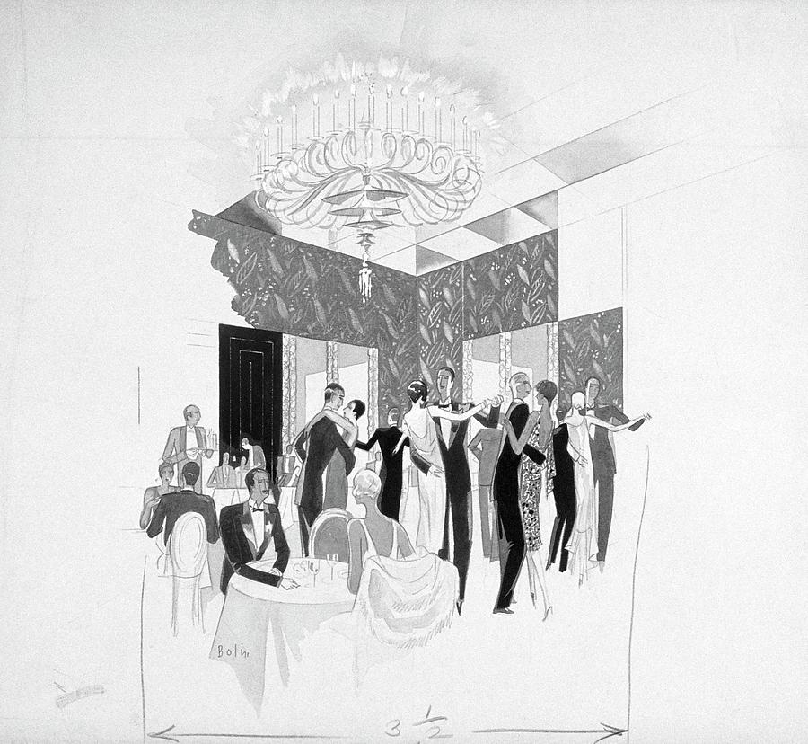 The Silver Room Of The Casino In Central Park Digital Art by William Bolin