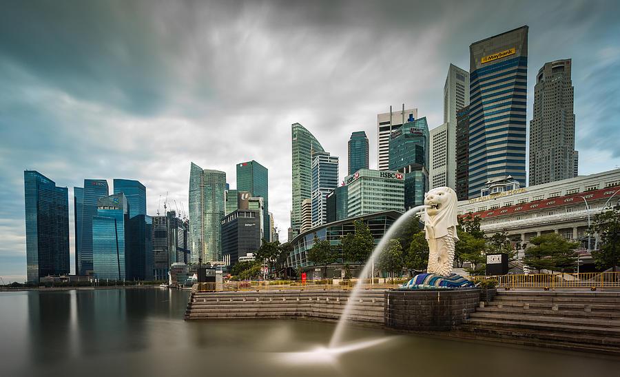 The Singapore Skyline Photograph by Rustam Azmi