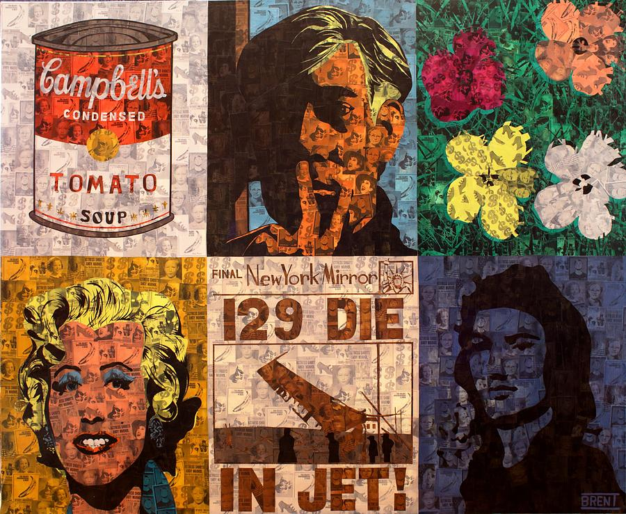 Andy Warhol Painting - The Six Warhols by Brent Andrew Doty