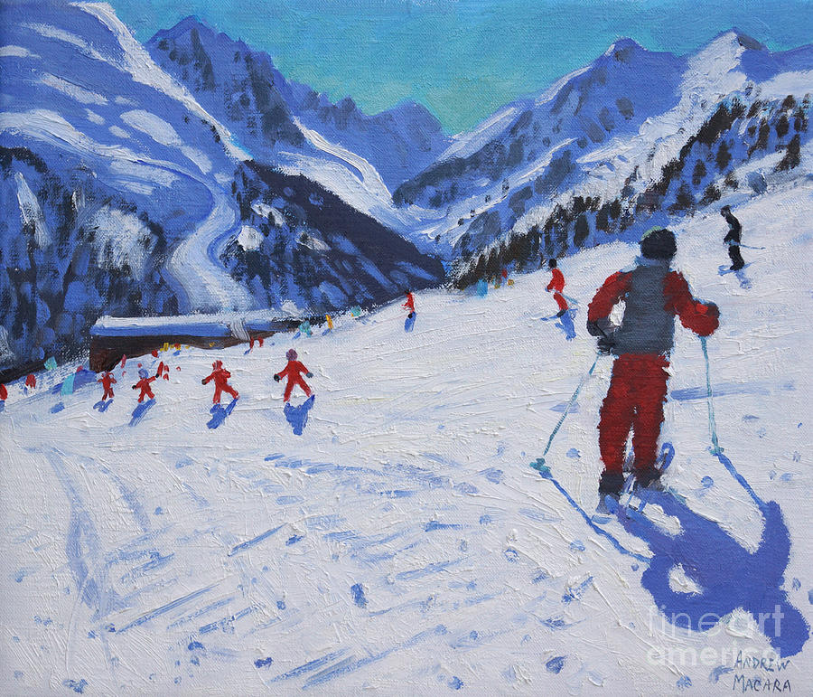 Macara Painting - The Ski Instructor by Andrew Macara