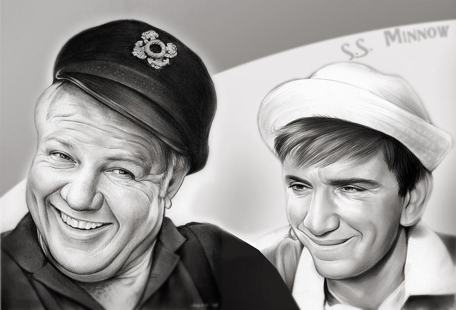 The Skipper And Gilligan Mixed Media