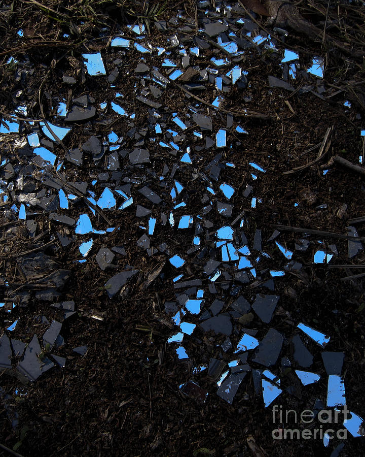 The Sky Reflected in a Broken Mirror by Gerald Grow