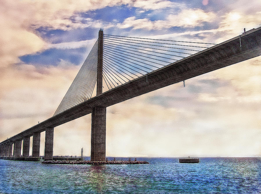 Bridge Photograph - The Skyway by Hanny Heim