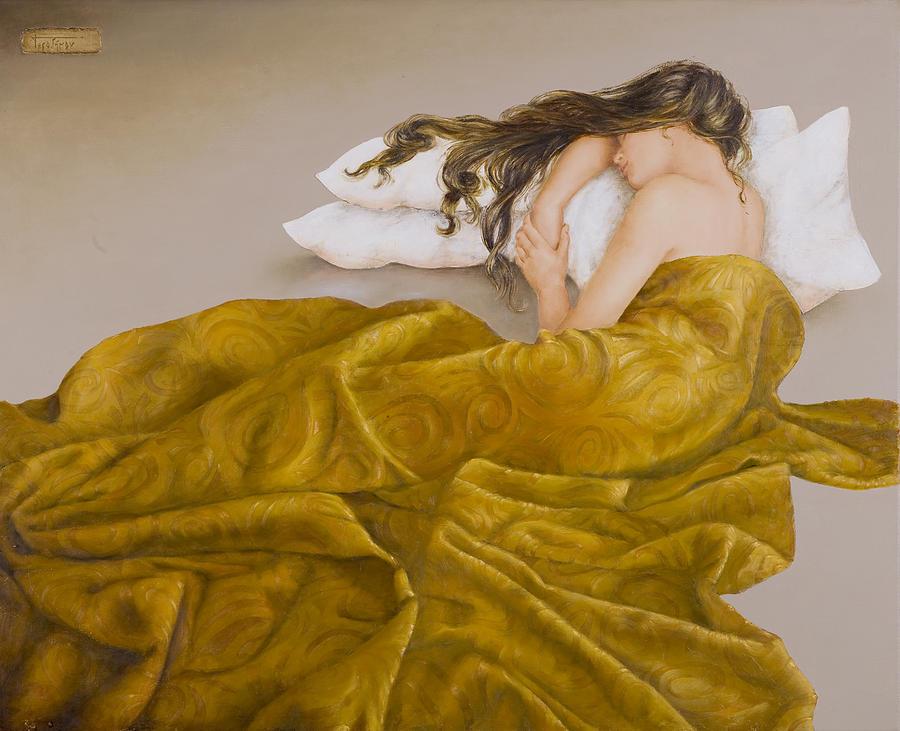 Sleeping Beauty Painting - The Sleeping Beauty by Sobobak