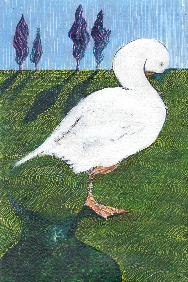 The Sleepy Goose Painting