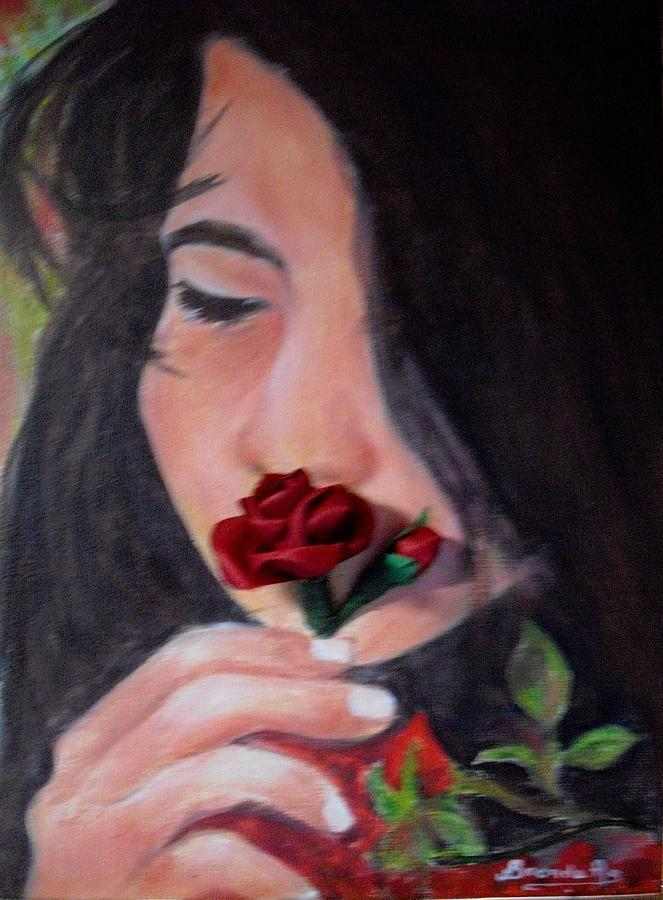 Rose Relief - The Smell Of A Rose.. by Brenda Almeida-Schwaar