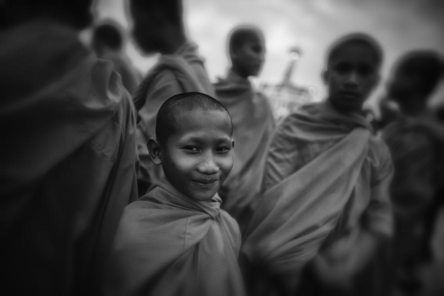 Southeast Asia Photograph - The Smile Of A Novice by David Longstreath