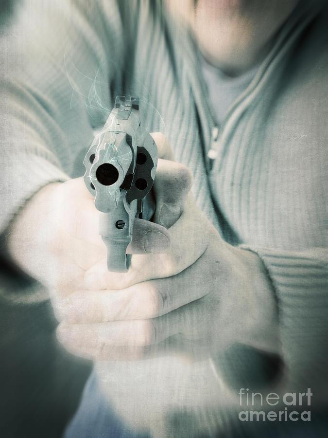 Gun Photograph - The Smoking Gun by Edward Fielding