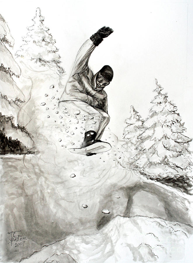 The Snowboarder by Art By - Ti   Tolpo Bader
