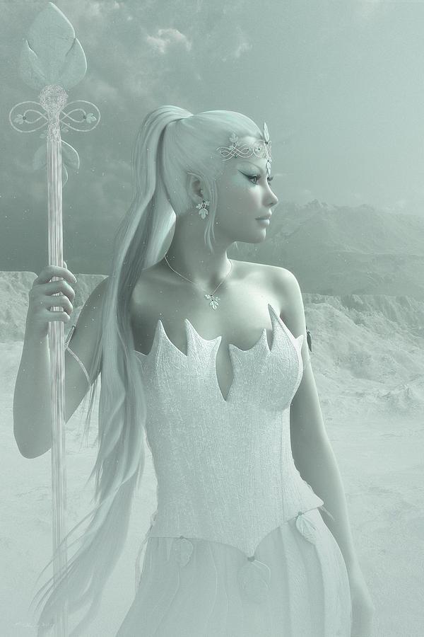 Fantasy Digital Art - The Snow Queen by Melissa Krauss