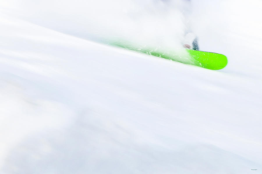 Snowboarder Photograph - The Snowboarder And The Snow by Theresa Tahara