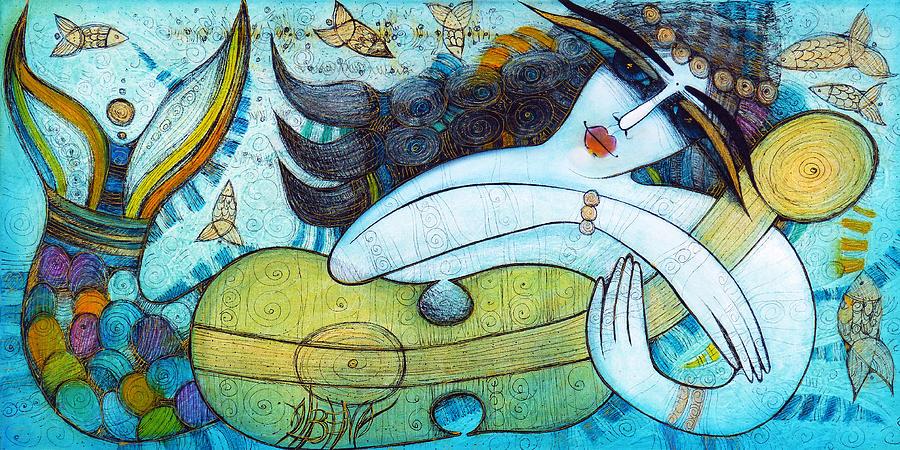 Albena Painting - The Song Of The Mermaid by Albena Vatcheva