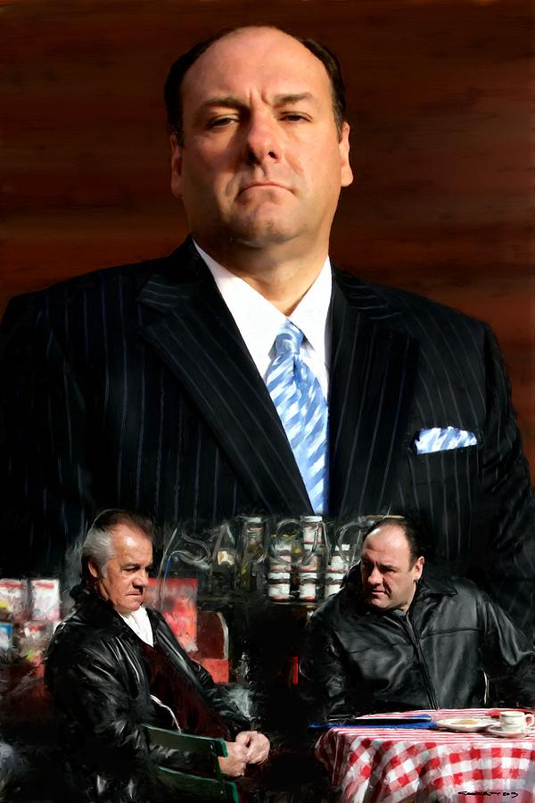 The Sopranos Digital Art - The Sopranos - James Gandolfini Tribute 2 by Gabriel T Toro