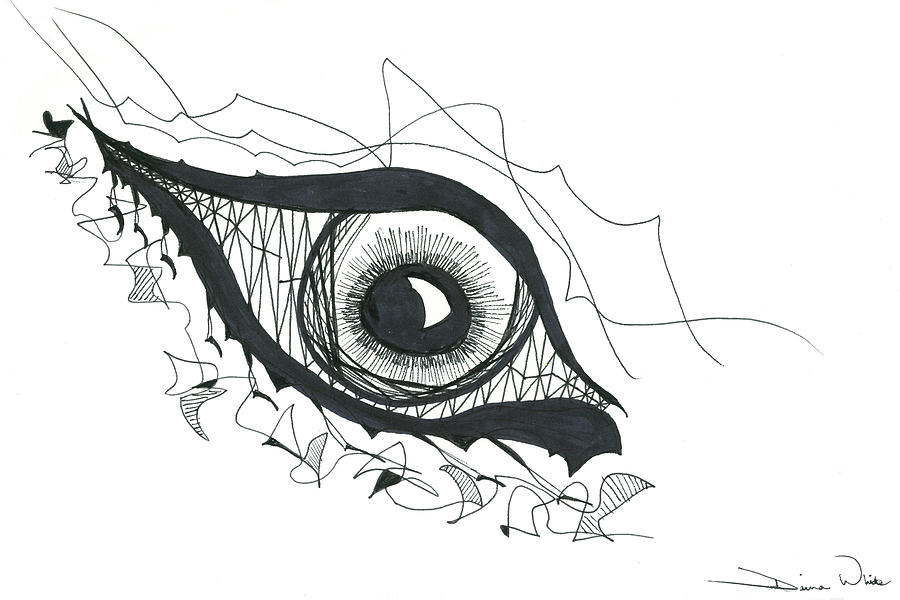 Eye Drawing - The Sorcerers Divine Dance Of Infinite Divine Light by Daina White