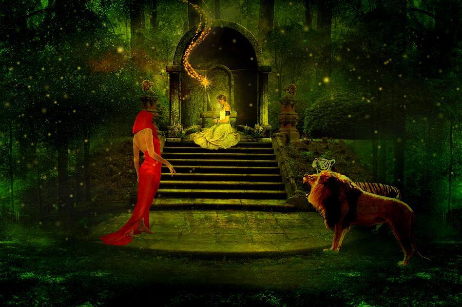 Sorceress Digital Art - The Sorceress by Amanda Struz