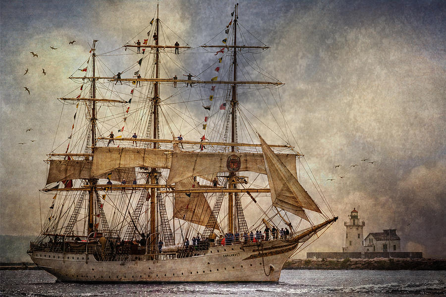 Tall Ships Photograph - The Sorlandet by Dale Kincaid